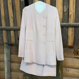 Chanel Pink Cotton Boucle Jacket and Skirt US 6